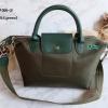 พร้อมส่ง DB-201708-2 สีเขียวเข้ม กระเป๋าสะพายแฟชั่นทรง Longchamp เนื้องานสวยเกรดพรีเมี่ยมไม่ปั๊มแบรนด์* มีถุงผ้า