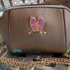 พร้อมส่ง KB-628-1-สีบอร์น กระเป๋าสะพายไซร์มินิน่ารักสายสะพายโซ่แต่งอะไหล่ Glitter-rabbit หนังมุก