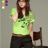 เสื้อยืดแฟชั่น แขนเบิ้ล ลาย New Music Note สีเขียว