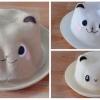 Y001-5**พร้อมส่ง** (ปลีก+ส่ง) หมวก สาน เด็ก ลายแมว แฟชั่นเกาหหลี งานนำเข้า(Made in China)