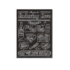 Tin Recipes For Love & Happiness Wall Décor, 4 Styles 'Enduring Love'