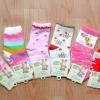 U040-14**พร้อมส่ง** (ปลีก+ส่ง) ถุงเท้าเด็กหญิงวัย 3-5 ปี COCO & BU (ขนาด 16-18 cm.) มีกันลื่น เนื้อดี งานนำเข้า ( Made in China)