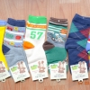 U040-11**พร้อมส่ง** (ปลีก+ส่ง) ถุงเท้าเด็กชายวัย 5-7 ปี COCO & BU (ขนาด 18-20 cm.) ไม่มีกันลื่น เนื้อดี งานนำเข้า ( Made in China)