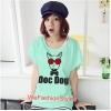 เสื้อยืดแฟชั่น ผ้านุ่ม ลาย Doc Dog (Size M:36 นิ้ว) สีเขียวมินท์