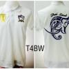 เสื้อโปโล ทีมชาติไทย ลายช้างศึกทรงเครื่อง สีขาว T4BW