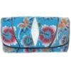 กระเป๋าสตางค์ปลากระเบน แบบ 3 พับ เม็ดใหญ่ ดอกไม้และผีเสื้อ หลากสีสัน Line id : 0853457150