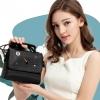 พร้อมส่ง กระเป๋าสะพายไหล่และกระเป๋าถือ ลายลิปสติกสวยๆ แฟชั่นเกาหลี Sunny-930 สีดำ 1 ใบ