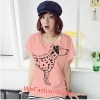 เสื้อยืดแฟชั่น ผ้านุ่ม ลาย Love Me (Size M:32-36 นิ้ว) สีโอรส
