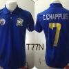 เสื้อโปโล ทีมชาติไทย ลาย เทพบุตร AEC สีน้ำเงิน T77N