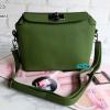 พร้อมส่ง DB-3223 สีเขียว กระเป๋าแฟชั่นหนังลิ้นจี่ สไตล์ Hermes Toolbox mini
