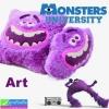 หมอนหนุน Monsters Art ลิขสิทธิ์แท้ ราคา 220-230 บาท