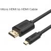 สาย HDMI (male) to Micro HDMI (male) คุณภาพสูง ยาว 1 เมตร ยี่ห้อ Unitek