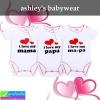 ชุดเด็กอ่อน ashley's babywear i love pa&ma เซ็ท 3 ตัว ราคา 230 บาท ปกติ 690 บาท