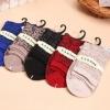 S337**พร้อมส่ง** (ปลีก+ส่ง) ถุงเท้าแฟชั่นเกาหลี ข้อยาว คละ 5 สี มี 10 คู่/แพ็ค เนื้อดี งานนำเข้า(Made in China)