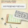 ชุดตัวปั้มอักษร: DIY Rubber Stamp [Font : SPRINGTIME]