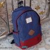 พร้อมส่ง DW-8226-สีน้ำเงิน- แดง กระเป๋าเป้ผ้าไซร์ใหญ่ตัดเย็บ two-tone