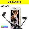 หูฟัง บลูทูธ AWEI A990BL Wireless Smart Sports Stereo ราคา 450 บาท ปกติ 1,125 บาท