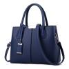 พร้อมส่ง กระเป๋าผู้หญิง ถือและสะพายข้างแฟชั่นสไตล์ยุโรป เรียบหรู รหัส Yi-8166 สีน้ำเงิน 1 ใบ