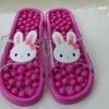 K014-PK**พร้อมส่ง** (ปลีก+ส่ง) รองเท้านวดสปา เพื่อสุขภาพ ปุ่มเล็กสลับใหญ่ ลายกระต่าย สีชมพู ส่งคู่ละ 150 บ.