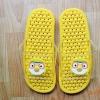K016-YL **พร้อมส่ง** (ปลีก+ส่ง) รองเท้านวดสปา เพื่อสุขภาพ ปุ่มเล็ก ลายโพโรโร่ สีเหลือง