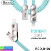 สายชาร์จ 2in1 Recci MOMENT RCD-D100 Micro USB/iPhone 5 ราคา 180 บาท ปกติ 540 บาท