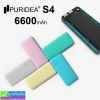 PURIDEA S4 Power bank แบตสำรอง 6600 mAh (เต็มความจุ) ราคา 275 บาท ปกติ 690 บาท