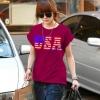 เสื้อแฟชั่น ผ้า spandex (ITY) รหัส DD31 (แขนเบิ้ล) สีแดง