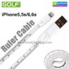สายชาร์จ iPhone 5/6 สายวัด ไม้บรรทัด Golf Ruler Cable ราคา 80 บาท ปกติ 200 บาท