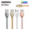 สายชาร์จ Micro USB (5 pin) Remax Laser Data Cable RC-035m ราคา 90 บาท ปกติ 230 บาท