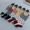 S347 **พร้อมส่ง** (ปลีก+ส่ง) ถุงเท้าแฟชั่นเกาหลี ข้อสั้น คละ 5 สี มี 12 คู่/แพ็ค เนื้อดี งานนำเข้า(Made in China)