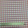 ผ้าฝ้าย cotton 100% ลายสก็อต ชมพู-ม่วง Plaid printed Pink-Purple