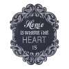 "Wood ""Home is Where Heart is"" Wall Plaque"