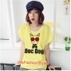 เสื้อยืดแฟชั่น ผ้านุ่ม ลาย Doc Dog (Size M:36 นิ้ว) สีเหลือง