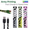 สายชาร์จ iPhone 5/6/7 Army Printing Fast Charge & Speed Data APC-01i