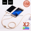 สายชาร์จ 2 in 1 Hoco X2 Micro USB/iPhone 6/5 1 เมตร ราคา 84 บาท ปกติ 225 บาท