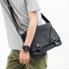 พร้อมส่ง ขายส่ง กระเป๋าผู้ชายสะพายไหล่ ใส่ Tap 11 นิ้วแฟชั่นเกาหลี รหัส Man-9848-1 สีดำ-เทา รุ่นผ้า 1 ใบ