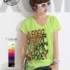 เสื้อยืดแฟชั่น Extreme Series คอวี แขนเบิ้ล ลาย Font Art สีเขียว (Size M)