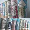 A040**พร้อมส่ง**(ปลีก+ส่ง) ถุงเท้าแฟชั่นเกาหลี ลายรองเท้าผ้าใบ มี 8 แบบ เนื้อดี งานนำเข้า( Made in Korea)