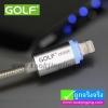 สายชาร์จ iPhone 5/6 LED Golf Braided Cable ราคา 95 บาท ปกติ 240 บาท