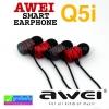 หูฟัง สมอลล์ทอล์ค AWEI Q5i ลดเหลือ 180 บาท ปกติ 455 บาท