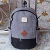 พร้อมส่ง DW-8226-สีเทา-ดำ กระเป๋าเป้ผ้าไซร์ใหญ่ตัดเย็บ two-tone