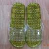 K012-DGR**พร้อมส่ง** (ปลีก+ส่ง) รองเท้านวดสปา เพื่อสุขภาพ ปุ่มเล็ก (ใส) สีเขียวขี้ม้า ส่งคู่ละ 80 บ.
