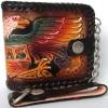 กระเป๋าสตางค์ลวดลายนกอินทรีย์ 2 พับ พร้อมโซ่Line id : 0853457150