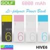 Power Bank Golf 6000 mAh HIVE 6 ลดเหลือ 270 บาท ปกติ 650 บาท