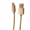 สายชาร์จ&ซิ้งค์ สำหรับ ไอโฟน Powermax USB สีทอง