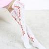ถุงเท้ายาวเหนือเข่า ลายดอกไม้มี 2 สีขาวและดำ