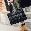 พร้อมส่ง กระเป๋าใบใหญ่ ถือและสะพายผู้ชายนักธุรกิจ ใส่คอมพิวเตอร์ 14 นิ้ว กระเป๋าเดินทาง แฟขั่นเกาหลี รหัส Man-1801 สีดำ 1 ใบ