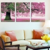 ภาพติดผนัง ร่มรื่นต้นไม้ใหญ่สีชมพู Art-ik