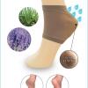 S578 **พร้อมส่ง** (ปลีก 190 บ.+ส่ง 105 บ.) ถุงเท้าสปาเพื่อสุขภาพ ช่วยถนอมผิวส้นเท้า ป้องกันส้นเท้าแตก (Spa Socks Footie slipper ) สีเนื้อ จำนวน 12 คู่/แพ็ค