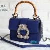 พร้อมส่ง DB-488 สีน้ำเงิน กระเป๋าแฟชั่นนำเข้าสไตล์ Gucci-daimond แต่งอะไหล่เกรดพรีเมี่ยมสวยหรู